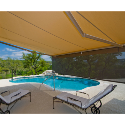 Retractable Drop Arm Awnings for Patios, Decks, and Pools | Texas Sun and Shade