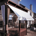 Retractable Motorized Drop Arm Awnings